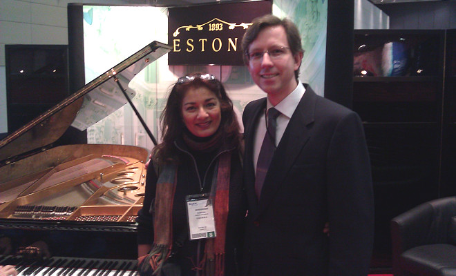 with Indrek Laul, Estonia Pianos