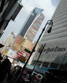 8th Ave at Grand Central Station, with the NY Times building on the right